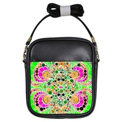Florescent Abstract  Girl s Sling Bag by OCDesignss