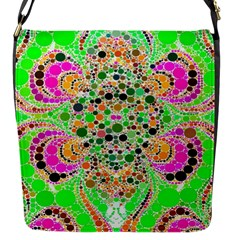 Florescent Abstract  Flap Closure Messenger Bag (small) by OCDesignss
