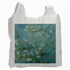 Vincent Van Gogh, Almond Blossom White Reusable Bag (two Sides) by Oldmasters
