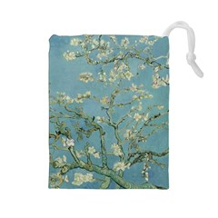 Vincent Van Gogh, Almond Blossom Drawstring Pouch (large) by Oldmasters