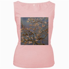 Vincent Van Gogh, Almond Blossom Women s Tank Top (pink) by Oldmasters
