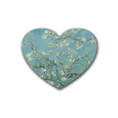 Vincent Van Gogh, Almond Blossom Drink Coasters (heart) by Oldmasters