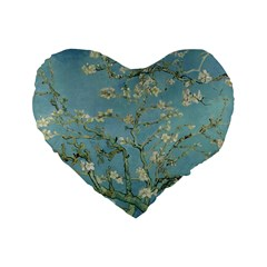 Vincent Van Gogh, Almond Blossom 16  Premium Heart Shape Cushion  by Oldmasters