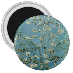 Vincent Van Gogh, Almond Blossom 3  Button Magnet by Oldmasters