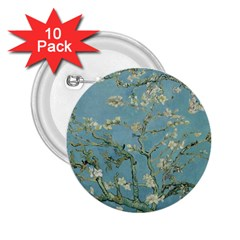 Vincent Van Gogh, Almond Blossom 2 25  Button (10 Pack) by Oldmasters