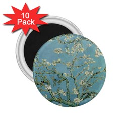 Vincent Van Gogh, Almond Blossom 2 25  Button Magnet (10 Pack) by Oldmasters