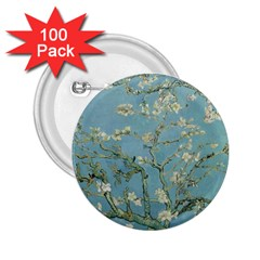 Vincent Van Gogh, Almond Blossom 2 25  Button (100 Pack) by Oldmasters