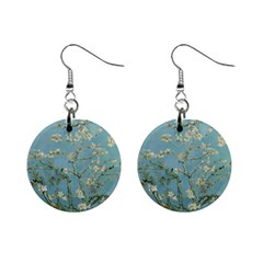 Vincent Van Gogh, Almond Blossom Mini Button Earrings