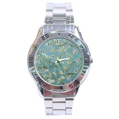 Vincent Van Gogh, Almond Blossom Stainless Steel Watch by Oldmasters