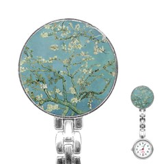 Vincent Van Gogh, Almond Blossom Stainless Steel Nurses Watch by Oldmasters