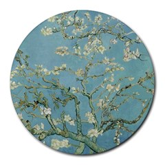 Vincent Van Gogh, Almond Blossom 8  Mouse Pad (round) by Oldmasters