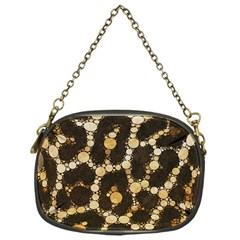 Cheetah Abstract  Chain Purse (one Side)