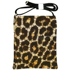 Cheetah Abstract  Shoulder Sling Bag by OCDesignss