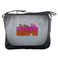 Vape For Your Life Abstract  Messenger Bag by OCDesignss
