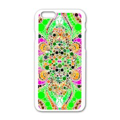 Florescent Abstract  Apple Iphone 6 White Enamel Case by OCDesignss