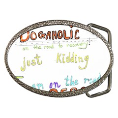 D0gaholic Belt Buckle (oval) by Contest1918526