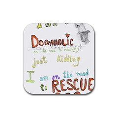 D0gaholic Drink Coasters 4 Pack (square) by Contest1918526