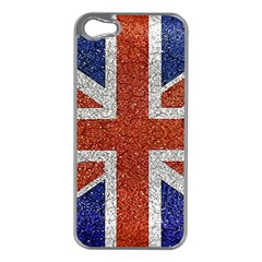 England Flag Grunge Style Print Apple Iphone 5 Case (silver)