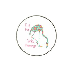 F Is For Funky Flamingo Golf Ball Marker 10 Pack (for Hat Clip)