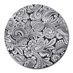 Floral Swirls 8  Mouse Pad (round) by odias