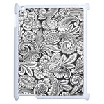floral swirls Apple iPad 2 Case (White) Front