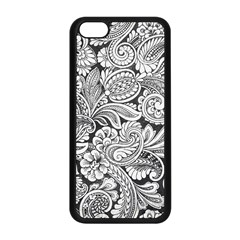 Floral Swirls Apple Iphone 5c Seamless Case (black) by odias
