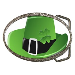 Irish Shamrock Hat152049 640 Belt Buckle (oval) by Colorfulart23
