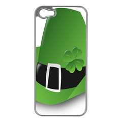 Irish Shamrock Hat152049 640 Apple Iphone 5 Case (silver) by Colorfulart23