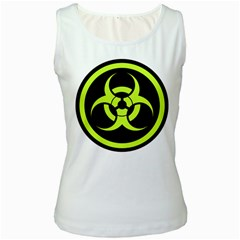 Biohazard Bold Sign Women s Tank Top (white) by goodmusic