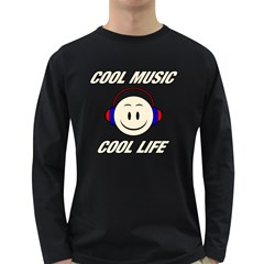 Cool Music Cool Life Men s Long Sleeve T Shirt (dark Colored) by goodmusic