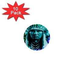 Magical Indian Chief 1  Mini Button (10 Pack) by icarusismartdesigns