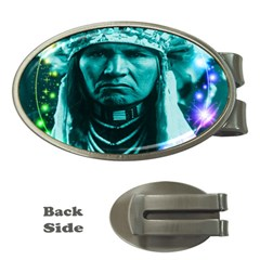 Magical Indian Chief Money Clip (oval) by icarusismartdesigns