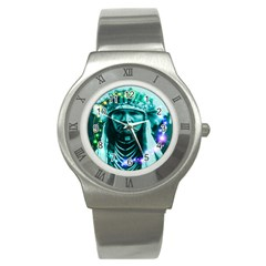 Magical Indian Chief Stainless Steel Watch (slim) by icarusismartdesigns