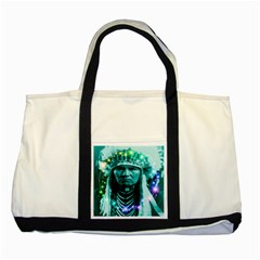 Magical Indian Chief Two Toned Tote Bag by icarusismartdesigns
