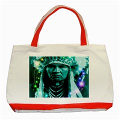 Magical Indian Chief Classic Tote Bag (red) by icarusismartdesigns