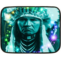 Magical Indian Chief Mini Fleece Blanket (two Sided) by icarusismartdesigns