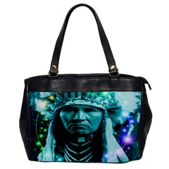 Magical Indian Chief Oversize Office Handbag (one Side) by icarusismartdesigns