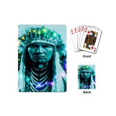 Magical Indian Chief Playing Cards (mini) by icarusismartdesigns