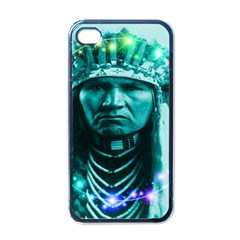 Magical Indian Chief Apple Iphone 4 Case (black) by icarusismartdesigns