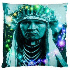 Magical Indian Chief Large Cushion Case (single Sided)  by icarusismartdesigns