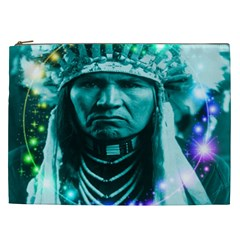 Magical Indian Chief Cosmetic Bag (xxl) by icarusismartdesigns
