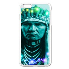 Magical Indian Chief Apple Iphone 6 Plus Enamel White Case by icarusismartdesigns