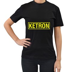Ketron Synthesizer Yellow Women s T Shirt (black) by goodmusic