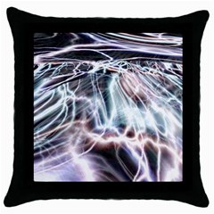 Solar Tide Black Throw Pillow Case by icarusismartdesigns