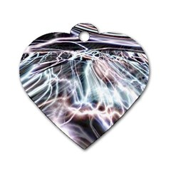 Solar Tide Dog Tag Heart (two Sided) by icarusismartdesigns