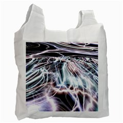Solar Tide White Reusable Bag (one Side) by icarusismartdesigns