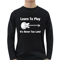Learn To Play Electric Guitar Men s Long Sleeve T-shirt (dark Colored)