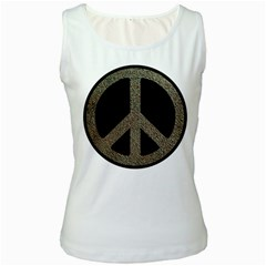 Peace,love,music Rusty Sign Women s Tank Top (white) by goodmusic
