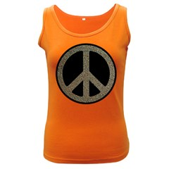 Peace,love,music Rusty Sign Women s Tank Top (dark Colored) by goodmusic