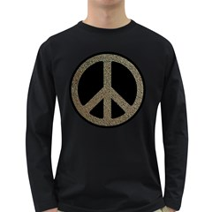 Peace,love,music Rusty Sign Men s Long Sleeve T Shirt (dark Colored) by goodmusic